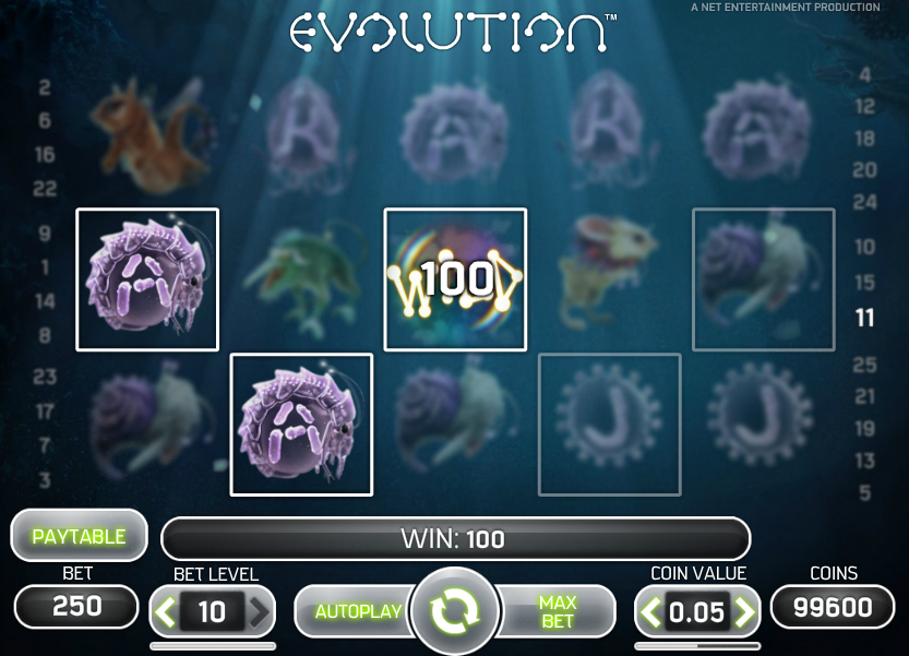 Evolution spielen slots