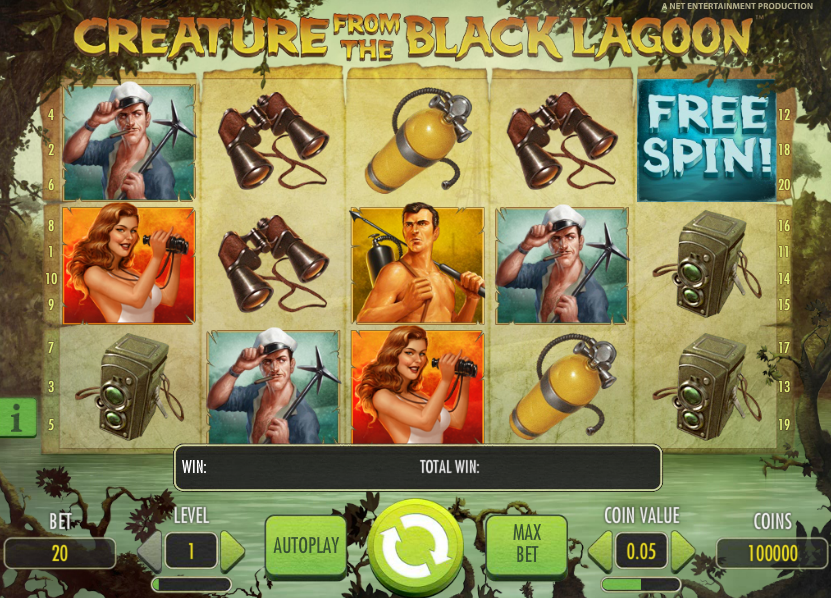 Creatures from the black lagoon slot 2